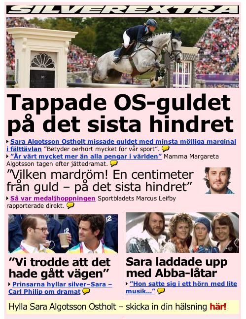 Carls drom svenskt guld pa hemmaplan
