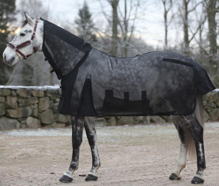 flugtäcke häst zebra