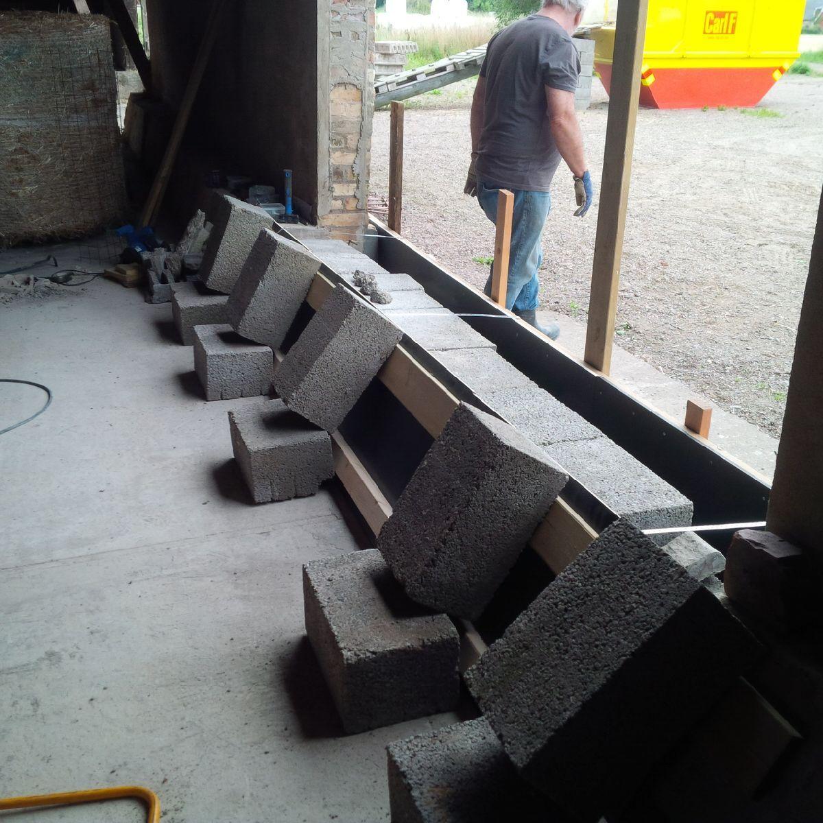 gjuta sockel i betong
